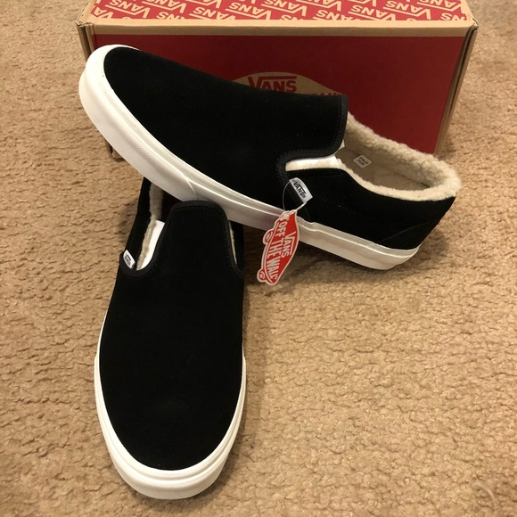 460840308414e8 Suede Fleece Classic Slip On Vans